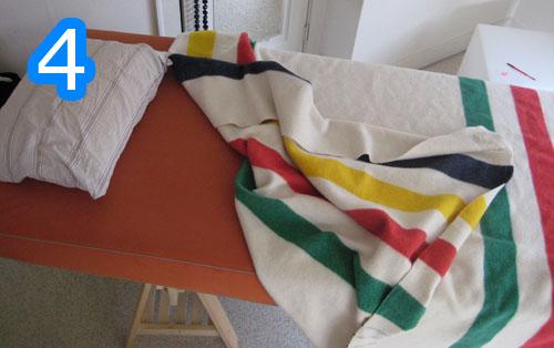 4 ikea trestles bed