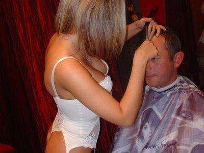 hair dresser big boobs